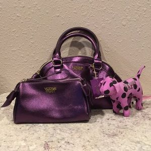 Victoria's Secret bags (2) and PINK Mini dog